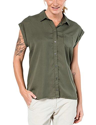 Jack Wolfskin Women's Mojave Shirt Short Sleeve, XX-Large, Woodland Green