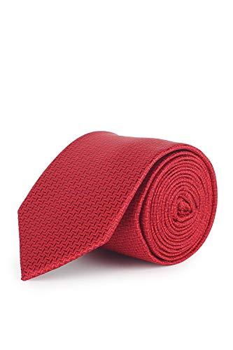 Van Heusen Men's Silk Necktie (VHTIBRGFF000278_Red_Free Size)