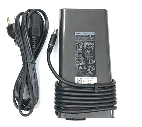 Dell 19.5V 12.31A 240W AC Adapter for Dell Precision 7730, 100% Compatible with P/N: LA240PM180, 7XCR6, 07XCR6, DA240PM180, 0RYJJ9, RYJJ9, 8N2T2, 450-AGCX, KJXPP, 450-AHHE.