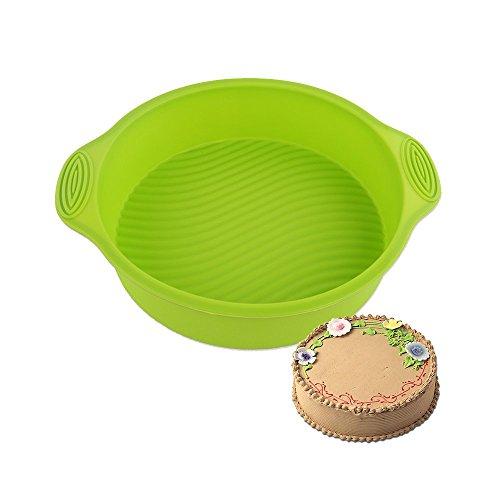 Silicone Moule à gâteau Moule à Tarte Rond antiadhésif moules en silicone pour gâteaux et tartes pour la pâtisserie Ø 24,5 cm Vert