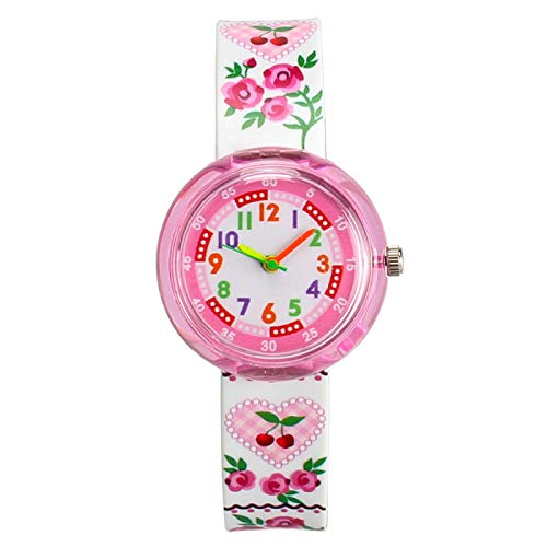 SFBBBO Reloj niño Relojes para niños Reloj de Pulsera de Cuarzo Niño para niña Niños Reloj Flor de Dibujos Animados Relojes Multicolores Flor