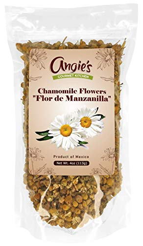 Dried Chamomile Flowers 4oz | Flor de Manzanilla | Freshly Packed in Resealable Bag