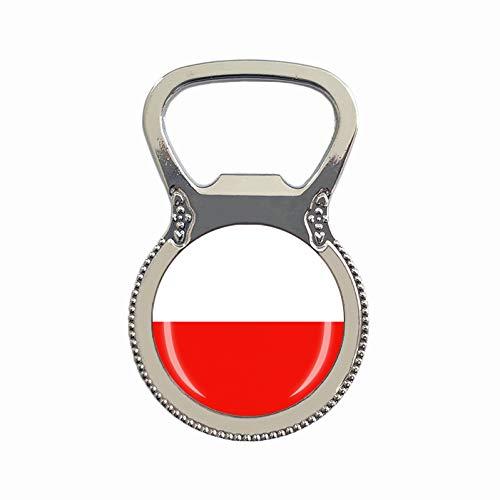 Flaschenöffner, Polen-Flagge, Kühlschrankmagnet, Metall, Glas, Kristall, Reise-Souvenir, Geschenk, Heimdekoration