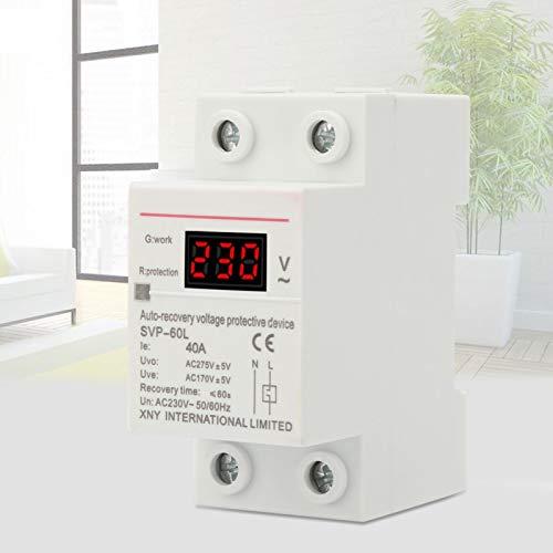 Protección contra sobretensión y subtensión Dispositivo de protección de voltaje, dispositivo de reconexión de voltaje, para estándares de diseño modular para protector de montaje en riel