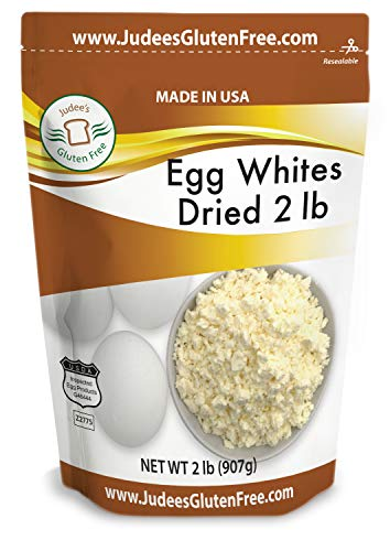 Judee's Dried Egg White Protein 2 lb - Baking, Meringue, Royal Icing, Smoothies. 4g Protein per Serving, Non GMO, USA Made, USDA Certified, Made from Freshest of Eggs (45 lb Bulk Size Available)