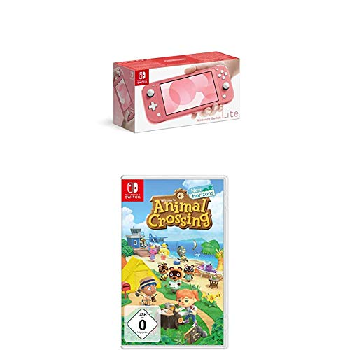 Nintendo Switch Lite, Standard, Koralle + Animal Crossing: New Horizons [Nintendo Switch]
