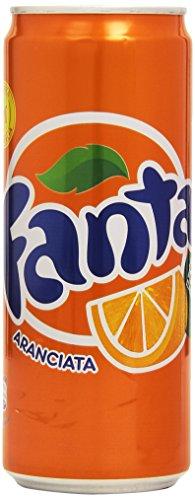 24x Fanta Orange Orangenlimonade Dose 330 ml 100% italienische Orangen
