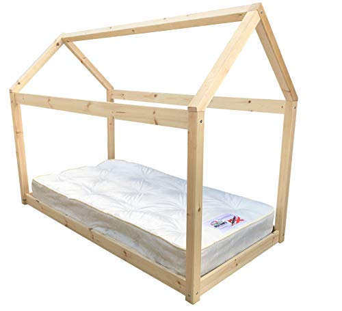 Strictly Beds and Bunks - Enby Canopy Bed including Sprung Mattress, 3ft Single