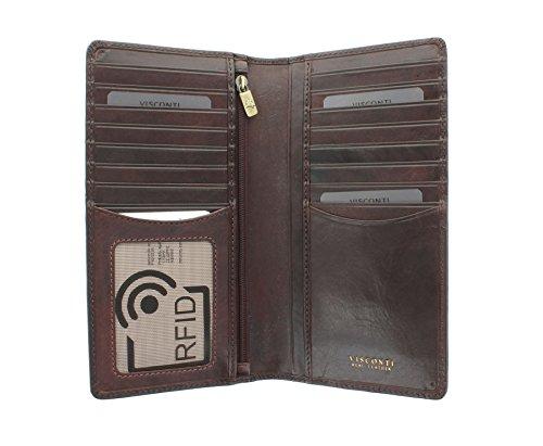 Portafoglio da Giacca in Pelle Visconti Collezione Tuscany CARRARA Protezione RFID TSC45 Marrone