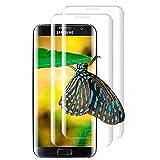 [2 Piezas] Protector de Pantalla para Samsung Galaxy S7 Edge, HD Clear, 3D Cobertura total, Antiarañazos, Sin Burbujas, 9H Dureza, Vidrio Templado para Samsung Galaxy S7 Edge - Transparente
