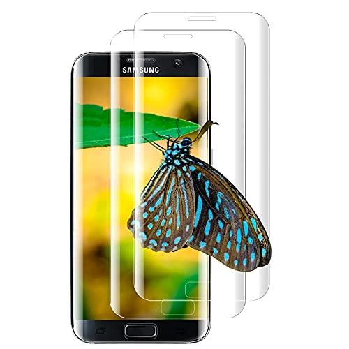 [2 Pezzi] Pellicola Protettiva Compatibile con Samsung Galaxy S7 Edge, 3D, 9H Hard Senza Bolle Schermo Protettivo, facile da installare Vetro Temperato Compatibile con Samsung Galaxy S7 Edge