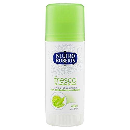 Neutro Roberts Deodorante Stick, Tè Verde e Lime, 40ml
