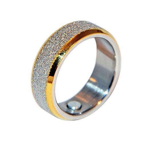 Bicolor Magnetring 106 Diamantenstaub Silber Gold Energetix 4you Partnerring Ehering Verlobungsring - 19