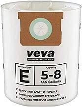 VEVA 15 Pack Premium Vacuum Filter Bags Type E 9066100 Work with Shop Vac 5-8 Gallon Vacuum, Part # SV Shop-Vac ShopVac 90661