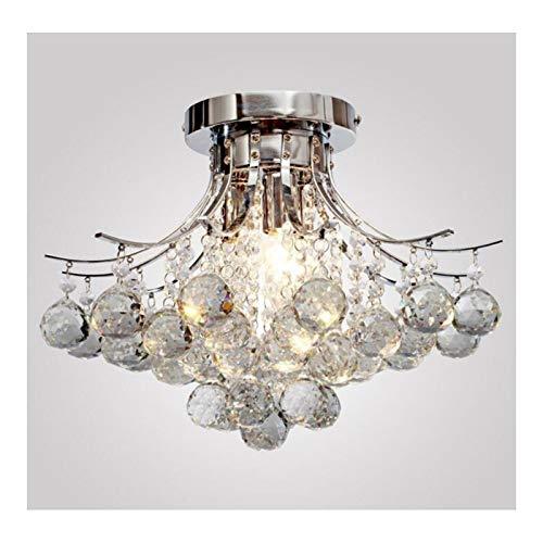 ZHLJ Lámpara Colgante de Techo con lámpara de Cristal, lámpara de Gota de Lluvia, 3 Luces, Montaje Empotrado