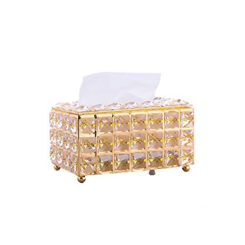 Primst Caja de pañuelos decorativa de cristal para mesa, organizador de pañuelos,...