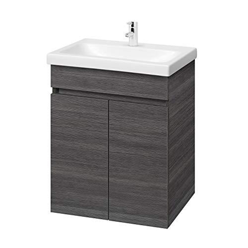 Planetmöbel Waschtisch Badmöbel Set 64cm für Badezimmer WC (Anthrazit)