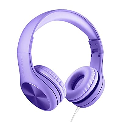 New! LilGadgets Connect+ PRO Kids Premium Volume Limited Wired Headphones with SharePort (Children) - Purple by LilGadgets