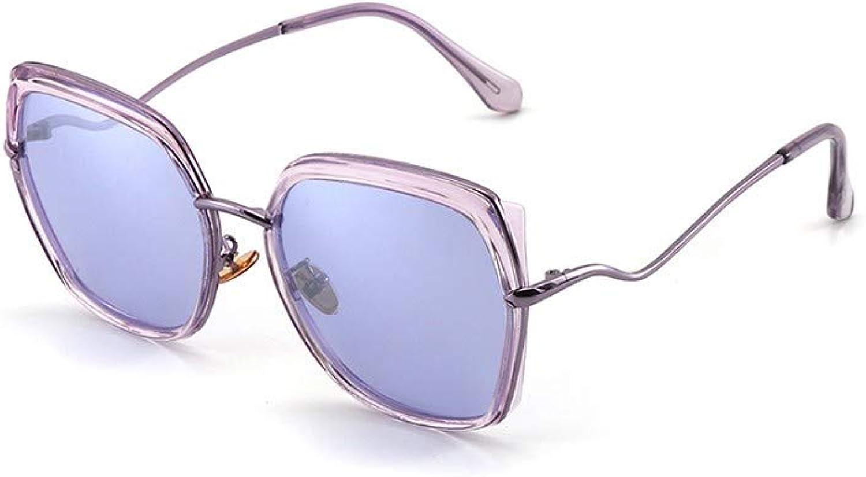 Fuqiuwei Sonnenbrillen Simple And Versatile Retro Personality Sunglasses Female Personality Big Box Polygon Sunglasses