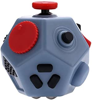 UOOE Fidget Cube,12 Side Fidget Cube,Mini Fidget Toys Relief Stress and Anxiety Depression Anti for Kids and Adults with ADD, ADHD, OCD, Autism