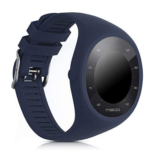 kwmobile Pulsera Compatible con Polar M200 - Brazalete de Silicona en Azul Oscuro sin Fitness Tracker