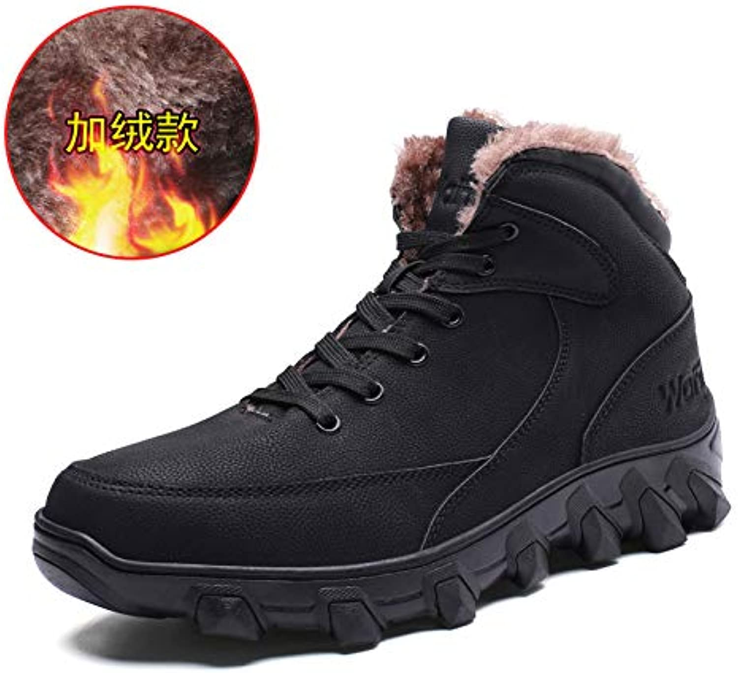 LOVDRAM Boots Men's Winter Martin Boots Men'S Thick Warm High Top Cotton shoes Men'S Thick Leather Anti Skiing Boots Factory Price