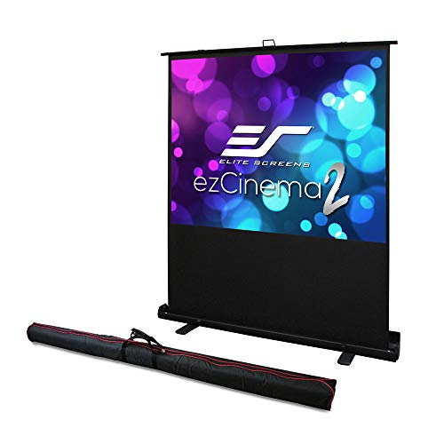 Elite Screens ezCinema 2, Portable Manual Floor Pull Up Scissor Backed Projector Screen 52-inch,16:9, 4:3 Home Theater Office Classroom Projection Carrying Bag, US Based Company 2-YEAR WARRANTY