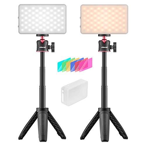 VIJIM 2 Packs Videokonferenz Beleuchtungs Set, Wiederaufladbare Laptop-Leuchten für Fernarbeiten, Tragbares Fotobeleuchtungs-Kit für Tischfotos, Selbstübertragung, Live-Streaming