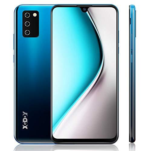 4G Handy Ohne Vertrag,XGODY Note10 7.2 Zoll HD Wassertropfen Bildschirm Smartphone,Android 9.0 Dual SIM Frei Mobile Phone,Facial Entriegelt,3600mAh Batterie(Gradient Blau)