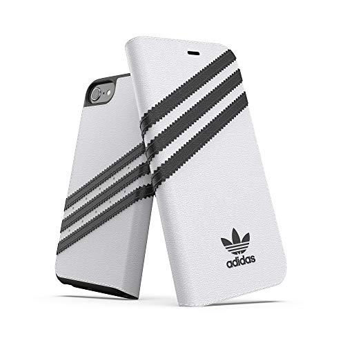 adidas Funda para iPhone SE (2020), diseño de Tres Rayas, Color Blanco y Negro