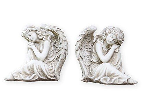 Twin Sleeping Angel Girls Left Right Facing Garden Statues -  Napco, 716658