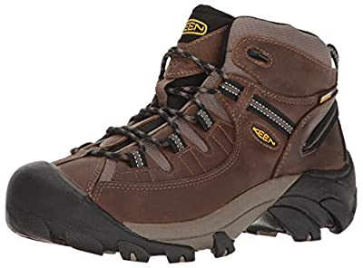 KEEN Men's Targhee II Mid Wide Hiking Shoe, Shiitake/Brindle, 11.5 W US
