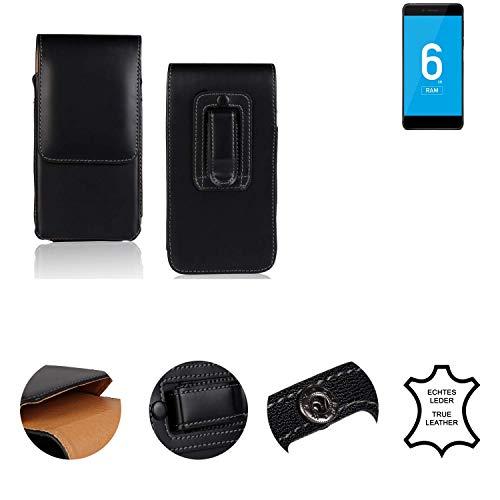 K-S-Trade® Holster Gürtel Tasche Für Vernee Mars Pro 4G Handy Hülle Leder Schwarz, 1x