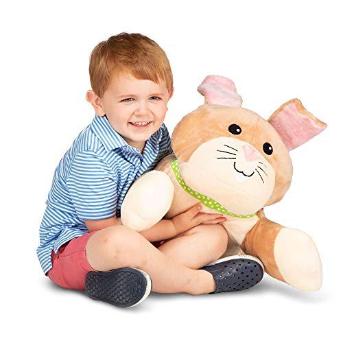 Melissa & Doug Cuddle Bunny Jumbo Plush Stuffed Animal with Activity Card