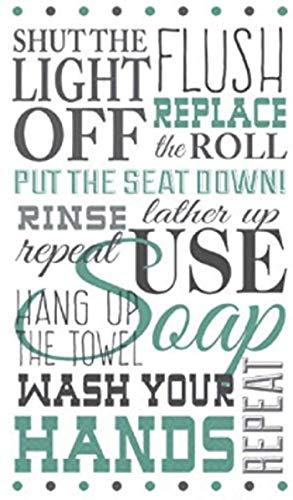 """Price comparison product image Bathroom Etiquette Guest Paper Towels / 16 Ct. / 8"""" x 4"""""""