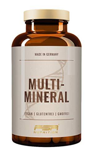 Basische Mineralien Basen Citrate - 180 Kapseln mit Magnesium, Zink, Kalium, Calcium und Vitamin D3, Hergestellt in Deutschland - FSA Nutrition