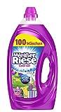 Weißer Riese Color Gel, Flüssigwaschmittel, 200 (2 x 100) Waschladungen, extra stark gegen Flecken