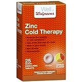 Walgreens Zinc Cold Therapy Quick Dissolving Tablets, Citrus, 25 ea