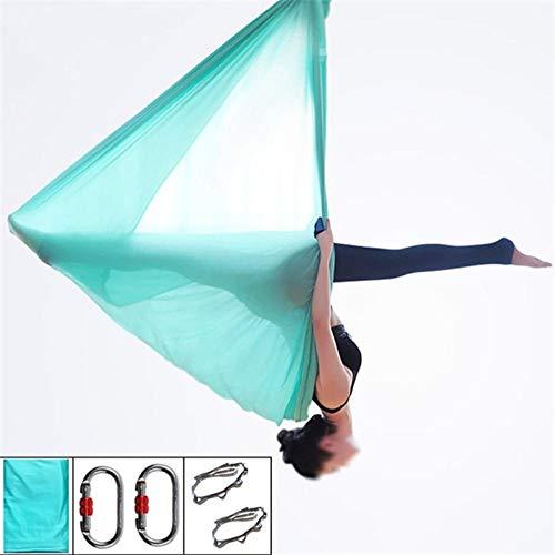 Fly Yoga - Hamaca de yoga (5 m, colección completa Aerial Yoga Hamac Swing Derrière Yoga Multifuncional por Gravedad con Marguerite