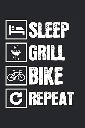 Fahrrad Grillen Griller Schlafen: Fahrrad & Grillen Notizbuch 6'x9' Bike Geschenk für Biker & Radfahrer