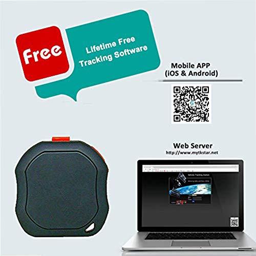 TKSTAR Tragbare Mini GPS Tracker, Haustiere Hund Katze Fahrzeuge Kinder Senioren mini GPS Outdoor Abbildung 3