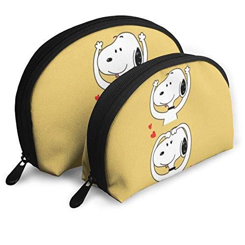 Belle Sac de Maquillage Snoopy Sacs de Voyage Petit Sac de Coque Sac de Toilette Portable Pochette d'embrayage 2pcs