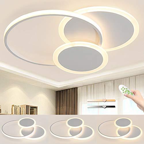 Simple LED Lámpara De Techo, Luces De Techo Forma De Pétalo De Moda, 39W Regulable Con Función De Memoria, Apto Para Sala De Estar Dormitorio, Lámpara De Techo De Habitación Infantil, Φ52cm*H6