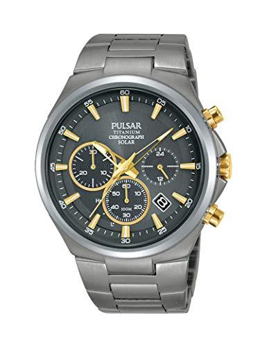 Orologio Pulsar in titanio da uomo, colore: argento