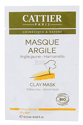 CATTIER Recharge de 12 Unidoses Masque Argile Jaune 12,5 ml