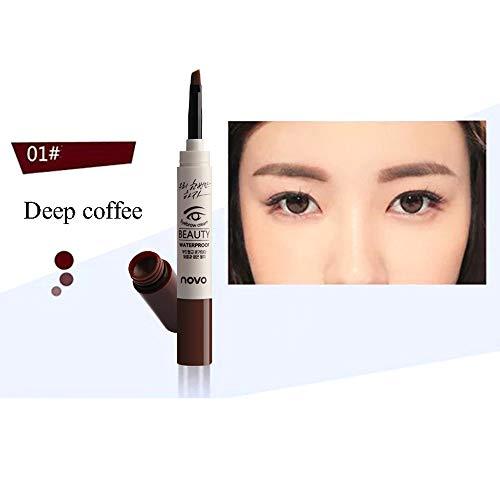 Wenkbrauw crème, schoonheid cosmetica lange termijn met borstel wenkbrauw crème make-up potlood mascara gel natuurlijke versterker 01