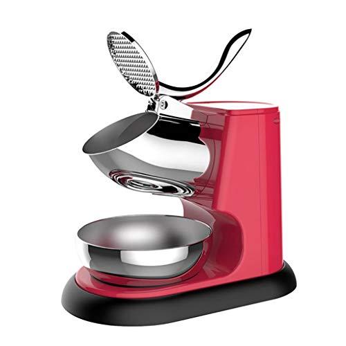 Machine à Glace Pilée Électrique, Machine à Cônes de Neige Glacée à Sortie de Glace Plus Élevée avec Broyeur à Glace à Double Lame en Acier Inoxydable pour Café Au Lait