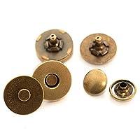 クラフトライフ マグネットホック ボタン 両面カシメ式 18mm 30組 (アンティークゴールド)