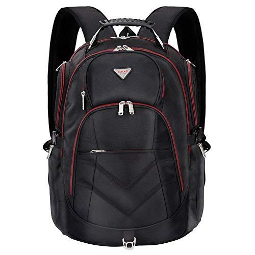 SOCKO Laptop Backpack 18.4 Inch, Nylon Water-Resistant Durable Travel Bag Hiking Knapsack Rucksack Backpack School College Student Shoulder Back Pack for 18-18.4 Inches Laptop Notebook Computer,Black
