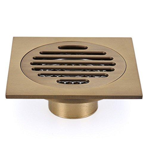 Eridanus, Boden Dusch Ablauf für Küche, Bad, Garten, Rostfrei, Bronzefarben